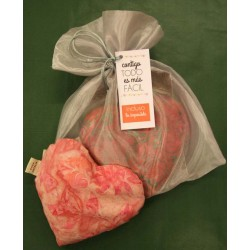 Heart aphrodisiac in bag with special card