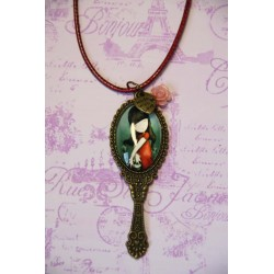 Vintage Gorjuss Mirror Hanging Necklace
