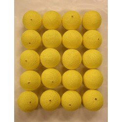 YELLOW Cotton Ball Light Pack