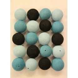 BLUE + BLACK Cotton Ball Light Pack