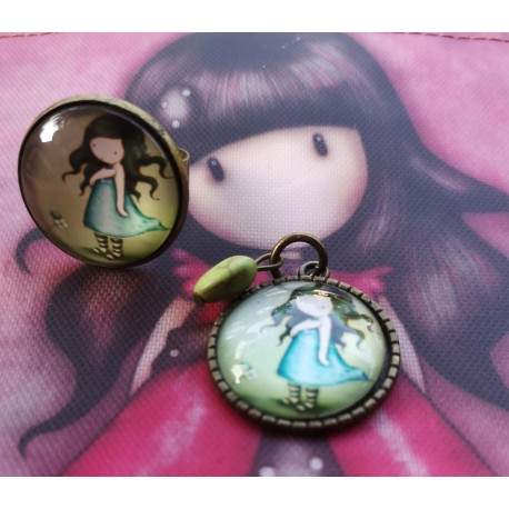 Gorjuss Set Pendant + Earrings Dear Alice