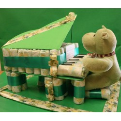 Piano of diapers