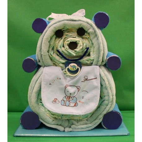 Teddy of diapers