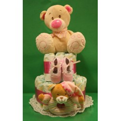 2 Tiers Diaper cake