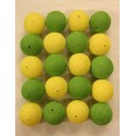 GREEN-YELLOW Cotton Ball Light Pack