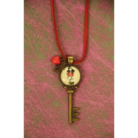 Gorjuss key pendant.